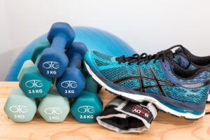 dumbbells-sport-shoes