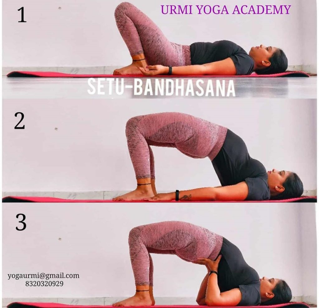 Setu-Bandhasaana-sequence-to-relieve stress