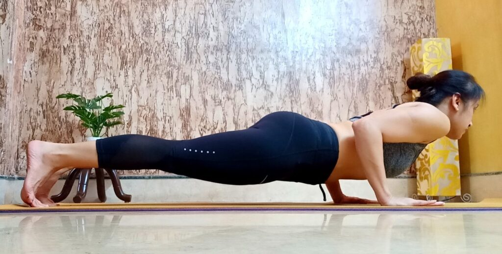 Chaturangadandasana or Low plank