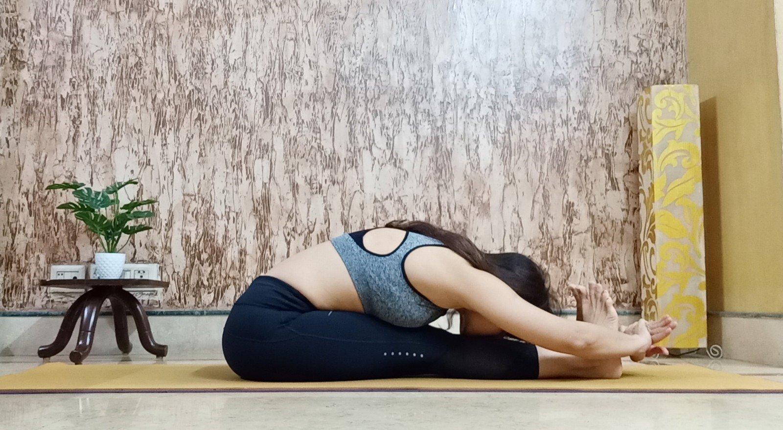 Paschimotanasana or Sitting forward fold